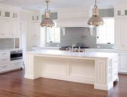 Kitchen Backsplash With White Cabinets Gray Kitchen Subway Tiles With White Cabinets Tile Murals For