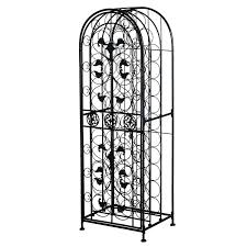preview homcom 45 bottle free standing decorative wrought iron
