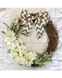 grapevine wreath new savings on grapevine wreath hydrangea wreath front