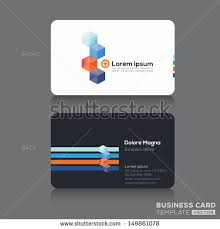 Credit Card Business Cards Designs Modern Isometric Business Cards Design Template Stock Vector
