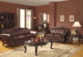 Traditional Tufted Sofa by Furniture Tufted Sofa With L Shape Has Dark Brown Tone With