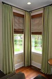 Window Curtains Rods Accessories Corner Window Curtain Rod Pertaining To Staggering
