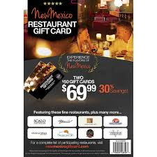 restaurant gift cards new mexico restaurant gift card two 50 gift cards