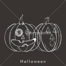 background for halloween banner or background for halloween party night with scary pumpkin