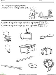 color and estimate pounds worksheet education com