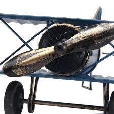 aliexpress com buy retro biplane model home decor metal plane