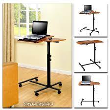 Rolling Table Desk Portable Laptop Table Desk Cart Adjustable Rolling Trolley