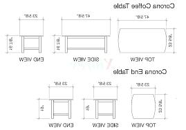 standard coffee table dimensions standard side table height bedside table measurements standard