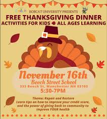 nov 16 free thanksgiving dinner and family at beech