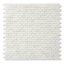 Square Feet by Mini Brick 1 Cm X 2 Cm Mosaic In Polished Thassos 9 Square Feet