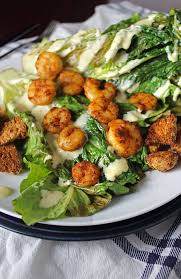 pan seared chipotle shrimp with grilled romaine and homemade