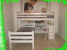 T Shaped Bunk Bed Furniture Appealing L Shaped Bunk Beds In Simple Design Bedding