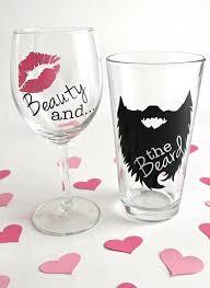 his hers wine glasses beauty and the beard beard wine glass beard mug