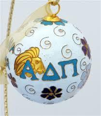 alpha delta pi original cloisonne ornament