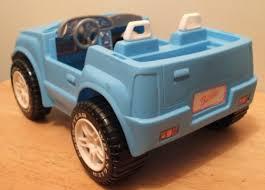 blue barbie jeep transportation