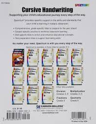 spectrum cursive handwriting grades 3 5 spectrum
