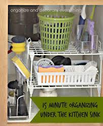 Under Kitchen Sink Organizer by 31 Days Of 15 Minute Organizing Day 12 Under The Kitchen Sink
