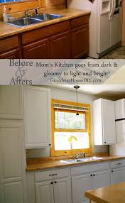 How To Paint Wooden Kitchen Cabinets Painting Kitchen Cabinets Taking My Mom U0027s Dark Kitchen Into Light