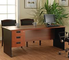 bay window desk interesting rectangle brown wooden office desk small space combine