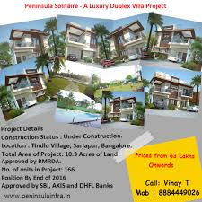 peninsula luxury villas u0026 apartments at sarjapur bangalore