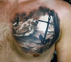 40 anchor chest tattoo designs for men nautical ideas