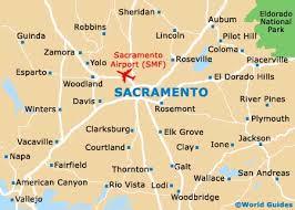 Sacramento Light Rail Map Map Of Sacramento Airport Smf Orientation And Maps For Smf