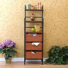 Storage Bookshelves With Baskets by Harper Blvd Black Storage Shelves With Rattan Baskets Free
