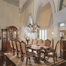 Dining Room Accent Furniture Upholstered Double Pedestal Dining Set Villa Cortina Dining Room