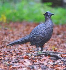 large garden ornaments pheasant antique bronze statue buy now