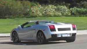 silver lamborghini silver lamborghini gallardo spyder on the road youtube