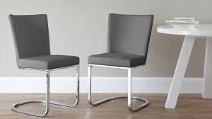 gray leather dining room chairs