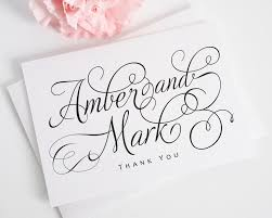 thank you card wedding wording personalized thank you cards for your wedding thank you cards by