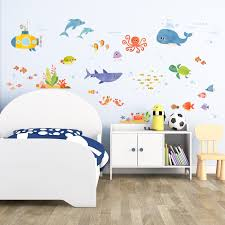 amazon com decowall dw 1311 under the sea kids wall decals wall