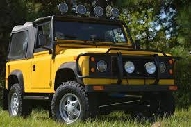 land rover defender 90 yellow defender showroom land rover defender for sale in us