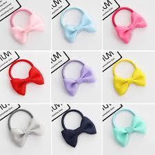 children s hair ornaments baby color bow tie rope rubber