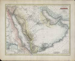 Uta Map Overview Map Of Arabia Based On C Ritter U0027s Geography Book Iii
