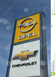 opel chevrolet opel and chevrolet pylon editorial stock image image of both
