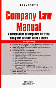 taxmann company law manual a compendium of companies act 2013