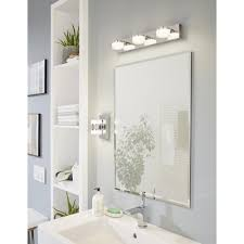 eglo 94651 romendo led chrome u0026 white bathroom wall light ip44