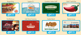 restaurant gift cards kroger 4x fuel rewards on all restaurant gift cards