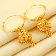 gold jhumka hoop earrings wedding indian hoop earrings jhumka goldplated traditional fashion