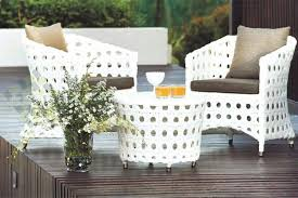 Contemporary White Outdoor Wicker Furniture The Reality Of - Outdoor white wicker furniture