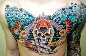 cool chest ideas chesttattoo with great color tattoocolor