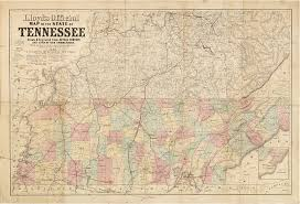 Topographical Map Of Tennessee by Important Civil War Era Maps Of Tennessee And Georgia With Unique