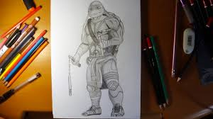 draw ninja turtles michelangelo movie 2014