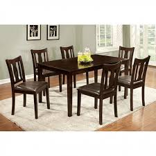 transitional 7 pc dining table set modernmist limited