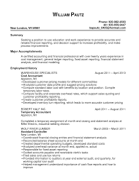 sle resume formats for experienced resume templates manufacturing cost accountant exles sle