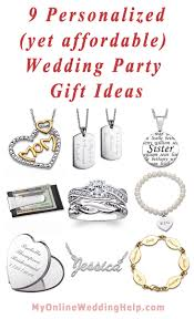 personalized wedding jewelry 9 personalized yet affordable wedding party gift ideas my