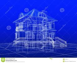 blue prints for a house 3d house blueprint stock illustration image of architecture 6732614