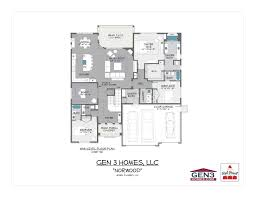 upper floor plan floor plans gen 3 homes
